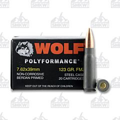 Wolf Polyformance 7.62x39mm 123 Gr Full Metal Jacket 1000 Rounds
