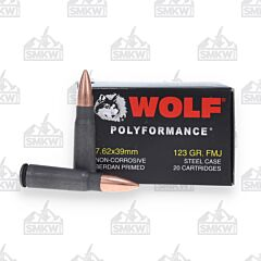 Wolf Polyformance 7.62x39mm 123 Gr Full Metal Jacket 1000 Rounds