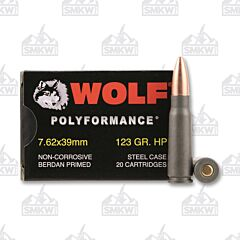 Wolf WPA Polyformance 7.62x39mm HP 123 Grain 20 Rounds