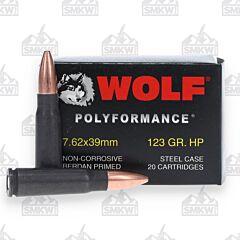 Wolf WPA PolyFormance 7.62x39mm HP 123 Grain 1000 Rounds