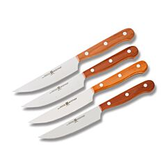 Wusthof 4 Piece Plum Steak Knife Set High Carbon Stainless Steel Blades Plum Wood Handles