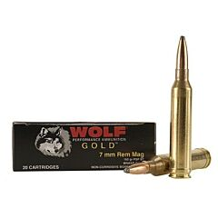 Wolf Gold 7mm Remington Magnum 160 Grain Soft Point 20 Rounds