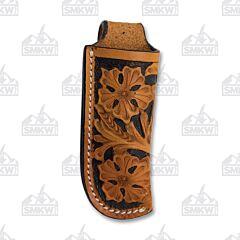 Western Fashion Natural Black Floral Leather Sheath