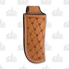Western Fashion Diamond Natural Light Oil Leather Sheath