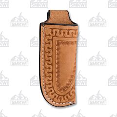 Western Fashion Swirl Natural Light Oil Leather Sheath