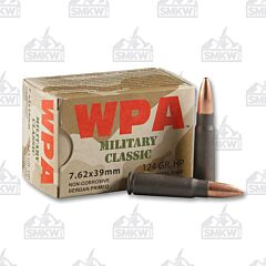 Wolf 7.62x39mm Ammo Hollow Point 124 Grain 1,000 Rounds