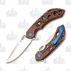 Olamic Wayfarer 247 Drop Point Entropic Bronze and Blue