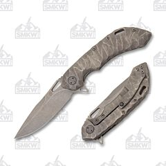 Olamic Wayfarer 247 Drop Point Stonewash