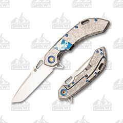 Olamic Cutlery Wayfarer 247 T220T Frosty Blue Accent