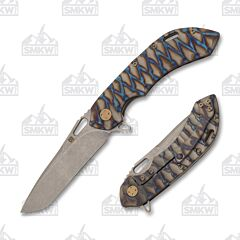 Olamic Wayfarer 247 Tanto Blue Flame