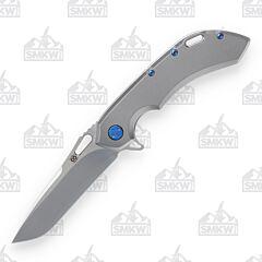 Olamic Wayfarer 247 Tanto Light Blasted Blue