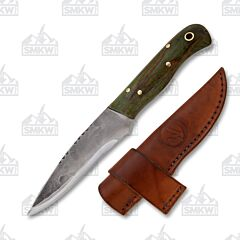 Custom Woody Personal Knife Fixed Blade Stabilized Maple Handle 1095 Tool Steel