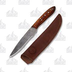 Custom Woody Colonial Trade Knife Curly Maple Handle 1095 Tool Steel