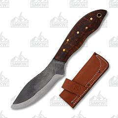 Custom Woody Hunter Skinner Curly Maple Handle 1095 Tool Steel