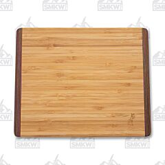 "Island Bamboo 11"" x 9"" Rainbow Wood Bamboo Carving Board"
