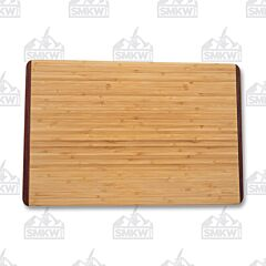 "Island Bamboo 9"" x 12"" Rainbow Wood Bamboo Carving Board"