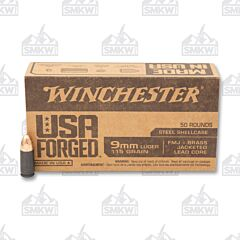 Winchester USA Forged Ammo 9mm Luger 115 Grain FMJ 50 Rounds