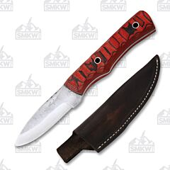 Weatherford Knife Co. Signature Series Red/Black G-10 Handle