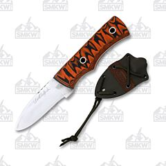 Weatherford Knife Co. Signature Series Medium Orange and Black G-10 Handle