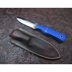 Chad Weatherford Custom Dagger Blue G-10 and 1095 Carbon Steel