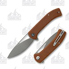 We Knife Civivi Riffle Flipper Brown Micarta