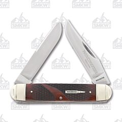 Winchester Collector's Edition Brown Checkered Bone Moose Stainless Steel Blades