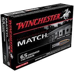 Winchester Match 6.5 Creedmoor 140 Grain Sierra MatchKing Hollow Point 20 Rounds