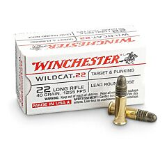 Winchester Wildcat 22 LR 40 Grain Lead Round Nose 50 Rounds