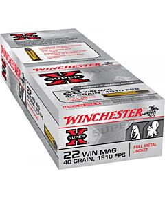 Winchester Super-X 22 Winchester Magnum Rimfire 40 Grain Full Metal Jacket 50 Rounds