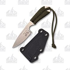 White River Backpacker S35VN Stainless Steel Blade S35VN Stainless Steel OD Green Paracord Wrapped Handle Kydex Sheath