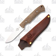 White River Knives Hunter Natural Burlap Micarta