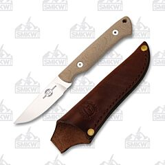 White River Small Game Hunter Natural Canvas Micarta