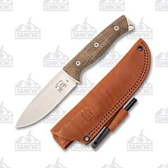 White River Ursus 45 Natural Burlap Micarta