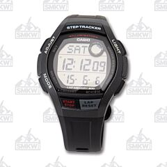 Casio Men's Step Tracker Runner Series Black and Grey Watch