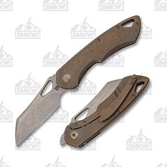 Olamic Cutlery Whippersnapper Wharncliffe Kinetic Earth Bronze Stonewash