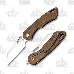 Olamic Cutlery Whippersnapper Wharncliffe Rocks Bronze Stonewash Satin 270W