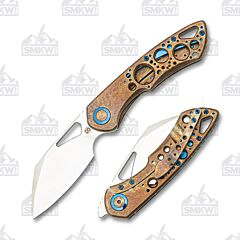 Olamic Cutlery Whippersnapper Sheepsfoot 445-S Antique Entropic Acid Raindrop Titanium