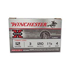 """Winchester Super-X Turkey 12 Gauge 3"""" 1-7/8oz #4 Shot 10 Rounds"""