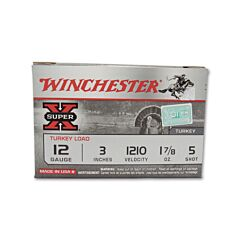 "Winchester Super-X Turkey 12 Gauge 3"" 1-7/8oz #5 Copper Plated Shot 10 Rounds"