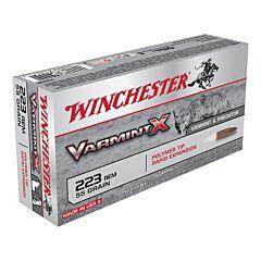 Winchester Varmint X .223 55 Grain Polymer Tip 20 Rounds