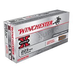 Winchester Super X 223 Remington 55 Grain Jacketed Soft Point 20 Rounds