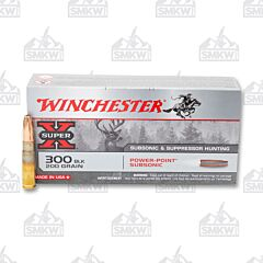 Winchester Super-X Ammo 300 Blackout 200 Grain Power-Point Subsonic 20 Rounds
