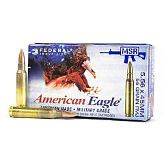 Federal 5.56 Nato 55 Grain  Full Metal Jacket Boat Tail 500 Rounds