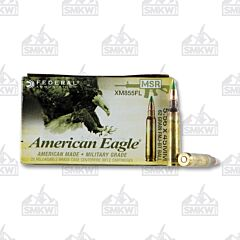 Federal American Eagle 5.56x45mm NATO 62 gr FMJBT 20 Rounds