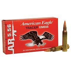 Federal American Eagle 223 Remington/5.56 NATO Full Metal Jacket Tactical Tracer 20 Rounds