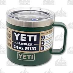 Yeti Rambler 14oz Mug Northwoods Green
