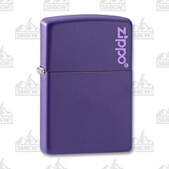 Zippo Purple Matte Logo Lighter