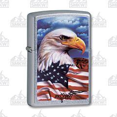 Zippo Mazzi Eagle and Flag Lighter