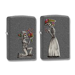 Zippo Iron Stone Couple Lighter Set