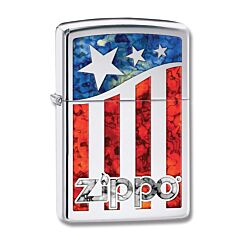 Zippo Old Glory US Flag Lighter